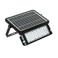 LUCECO 强大 LED 太阳能泛光灯 4000K IP65 保护 黑色 one size LEXSF11B40-01