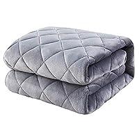 Kumori 床垫 温暖 极厚系 法兰绒 超细纤维 床垫 可洗 褥子毛毯 *防臭*加工 可整体清洗 秋冬 毯垫 床单 床垫/床垫垫 灰色 クイーン・160X200cm SKPD