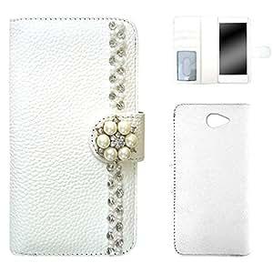 whitenuts 壳 手册式 钱包 装饰WN-OD255974 2_ Xperia ZL2 SOL25 白色
