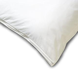 Allersoft 方形棉质防尘螨和过敏控制枕头保护套,50.8 x 50.8 厘米