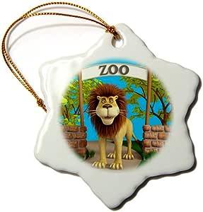 3drose boehm 图形动画–LION AT THE 动物园–饰品
