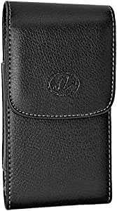 LG Aristo 手枪套 Black Vertical Leather Large Case
