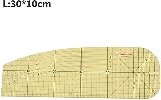 CHXIHome DIY 樹脂服裝裁縫切割尺,熱燙尺,拼接裁縫測量工具,手工DIY縫紉用品(L)