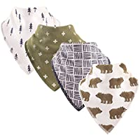 Hudson 婴儿中性款婴儿带褶 bandana 围兜 Bears One Size
