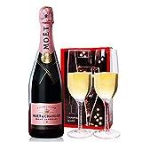法国原瓶原装进口 酩悦香槟 MOET CHANDON起泡/气泡葡萄酒750ML*1支 (酩悦粉红香槟750ml)