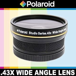 Polaroid Studio 系列 .43x 高清广角镜头,带微距附件,包括镜头袋和盖盖盖盖,适用于尼康 D40、D40x、D50、D60、D70、D80、D90、D100、D200、D300、D3、D3S、D700、D3000、D5000、D5100、D3100、D3200、D7000、D800E、D800E、D4 数码单反相机(18-55毫米、D4 数码单反相机(18-55毫米) 55-200毫米,50毫米,40毫米,28毫米,尼康镜头
