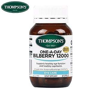 thompson's汤姆森蓝莓越橘精华12000mg*60片 (新西兰品牌)