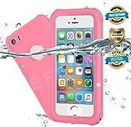 Effun 防水 iPhone 5/5S/SE 手机壳,IP68 认证防水/防尘/防雪/防震手机壳带手机支架,PH 测试纸,手写笔和浮动带 黑色/白色/浅蓝色/紫色