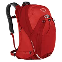 Osprey 中性 光线 Radial 34 红色 M/L 双肩背包 城市通勤骑行旅行日用网面透气背负自带防雨罩可拆卸腰带独立笔记本仓可放16寸15寸笔记本(两种LOGO随机发)【城市系列】