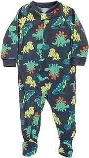 男婴灰色抓绒恐龙霸王龙连脚睡衣睡衣 18 个月