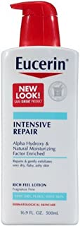 Eucerin Plus Dry Skin Therapy Intensive Repair Enriched Lotion 16.90 oz 4片装