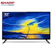 Sharp 夏普 2T-C32ACSA 32英寸 安卓智能网络液晶高清平板电视(黑色)(亚马逊自营商品, 由供应商配送)