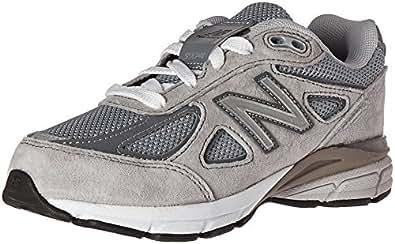 New Balance KJ990V4 跑步鞋(小童/大童) 灰色/灰色 1.5 M US Little Kid