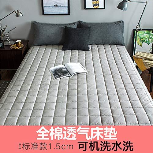 水漾 全棉床垫床褥1.8x2.0米垫被榻榻米褥子海绵垫子加厚保护垫 优雅灰1.5cm厚 120 * 200cm
