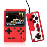 ASTARRY 手持游戏机,复古游戏播放器,带520经典FC游戏,适合儿童和成人,3英寸彩色屏幕,1020mAh可充电电池,支持连接电视和两个播放器(红色)