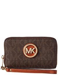 Michael Kors 迈克·科尔斯 FULTON 女式 钱包 32H5GFTE4B-200 棕色 均码