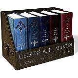 [英文原版]冰与火之歌 皮革套装收藏版 乔治马丁 George R. R. Martin's a Game of Thrones Leather-Cloth Boxed Set (Song of Ice and Fire Series): A Game of Thrones, a Clash of Kings, a Storm of Swords