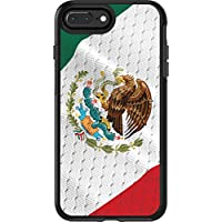 OtterBox SYMMETRY 系列手机壳适用于 iPhone 8 Plus & iPhone 7 Plus 5.5 英寸 - 梅花塞版 - 黑色 Retail Packaging 墨西哥国旗
