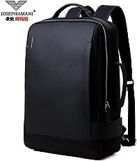 卓梵 阿玛尼男士双肩包商务男14/15.6英寸笔记本电脑包新款多功能旅行背包 黑色
