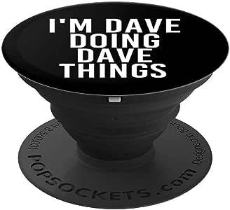 I'M DAVE DOING DAVE THINGS 趣味圣诞礼物创意冰袜手机和平板电脑握架260027  黑色