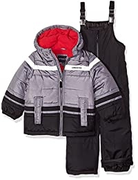 London Fog 男孩 2 件套雪地裤和夹克雪装