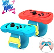 Just Dance 2020 腕带,2020 *新*版 2 合 1 舞带腕带,适用于 Nintendo Switch,可调节钩环弹性腕带,适用于 Joy Cons 控制器,2 件装