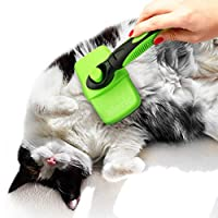Meric 宠物切片刷,不锈钢修饰,*,猫狗的梳理工具,握感舒适,单按按钮方便使用和保养,1 件