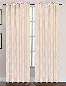 Sephora Embroidered Stitching Jacquard Rod Packet Panel - 54x90 米黄色