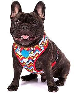 Zoozpets 史努比犬胸背带适合小型犬和大型犬种 | 舒适贴合 10 种鲜艳颜色和设计,*测试,耐用 L