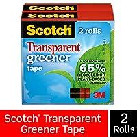 Scotch 透明綠色膠帶,1.91 x 900 cm,盒裝 2 Rolls 透明的