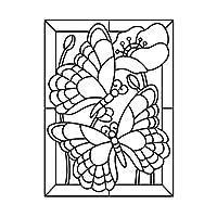 "Darice""精致的野花""浮雕文件夹,透明/白色,10.8 x 14.8 厘米 透明/白色 4.25 x 5.75-Inch 30008389"