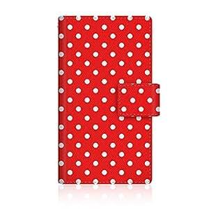 CaseMarket 【手册式】 安心家庭手机 (204HW) 超薄外壳 针脚模型 [Dot Pattern 婴儿 红色 怀旧款] 204HW-VCM2S2546