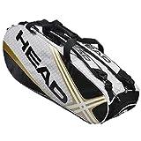 HEAD 海德羽毛球包 网球包 六支/9支装 黑金黑橙双肩背包