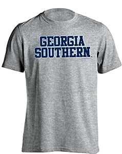 佐治亚南鹰堆积木工标志短袖 T 恤(麻灰色,2XL 码)