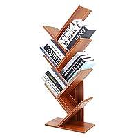 DL Furniture - 树形书籍存储整理器独立式书架 现代 8 Tiers 天然木