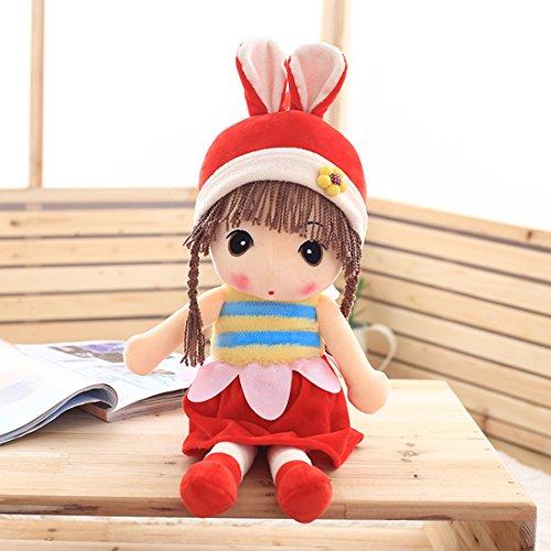 爱萌兔玩具 公主洋布娃娃 毛绒玩具 公仔儿童玩偶萌娃