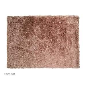 Flair Rugs Santa Cruz Summertime Oblong Shaggy Floor Rug (80cm x 150cm) (Crushed Strawberry)