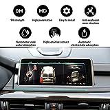 YEE PIN 汽车内部配件导航显示钢化玻璃屏幕保护膜适用于 BMA X5 X6 F15 F16 iDrive NBT10.2 英寸 2015-2018,耐刮擦触触敏度