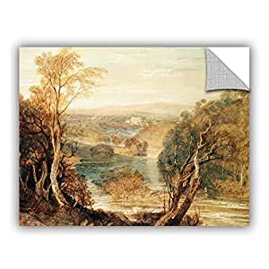 "ArtWall William Turner's the River Wharfe with a Distant View Art Appeelz Removable Graphic Wall Art, 18"" x 24"""