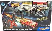 Hot Wheels DC 正义联盟蝙蝠侠和闪电英雄赛车玩具套装罕见!