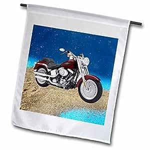 3dRose 旗帜图片哈雷戴维森174;摩托车 12 x 18 inch Garden Flag fl_4851_1