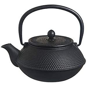 M.V. Trading 铸铁茶壶,21 盎司 黑色 T7001