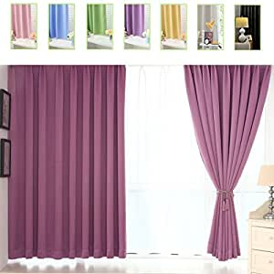 smibra 遮光室内遮光窗帘 / 窗帘适用于客厅(单面)隔热纯铜环穿杆窗帘