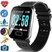 运动健身追踪器手表防水,适用于 Android/iOS 女士,女士智能手表心率*/氧监测*音乐播放紫色胶带 HD 彩色屏幕 父亲节礼物 1.44'' colorscreen