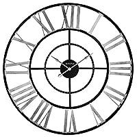 Bulova C4877 Zeeland 超大挂钟,黑色/银色