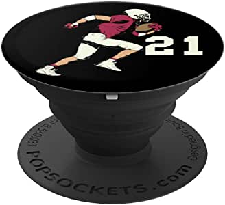 #21,21 号,送给足球男孩、女孩、女士、男士和手机和平板电脑的抓地力与支架260027  黑色