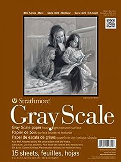 Strathmore 400 系列灰度垫,各种色调,30.48 厘米 x 45.72 厘米胶水绑定,15 张