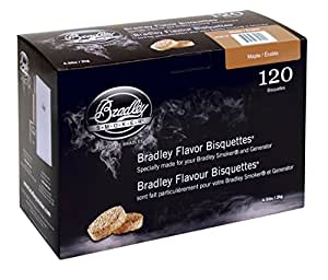 Bradley Smoker BTMP120 Maple Bisquettes 120 pack