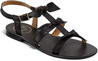 Jack Rogers 板球皮革凉鞋,黑色