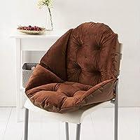 Addoil 超柔短毛绒贝壳椅垫 四季垫护臀垫 电脑椅子坐垫 可对折贝壳造型包围靠垫 办公室美臀椅垫 (咖啡色)